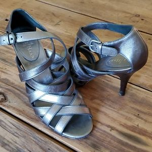 Cole Haan strappy leather heels size 6.5